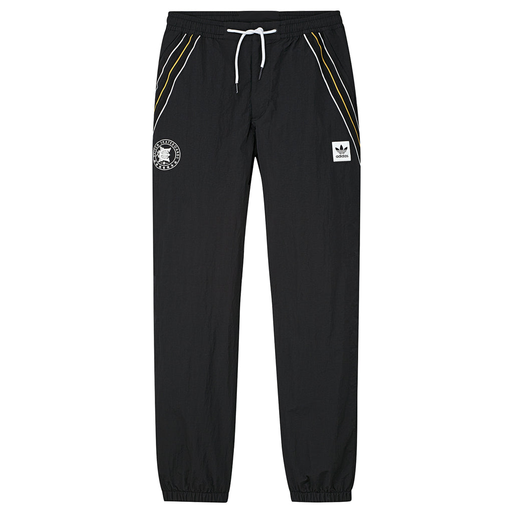 Adidas x Evisen Track Pants in Black / White / Scarlet / Pyrite