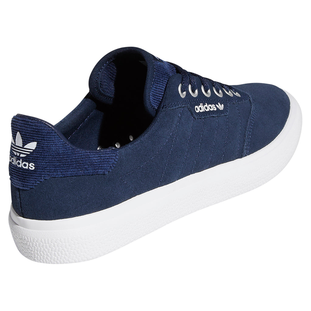 Adidas 3MC Shoes in Collegiate Navy / Footwear White / Silver Metallic - Heel