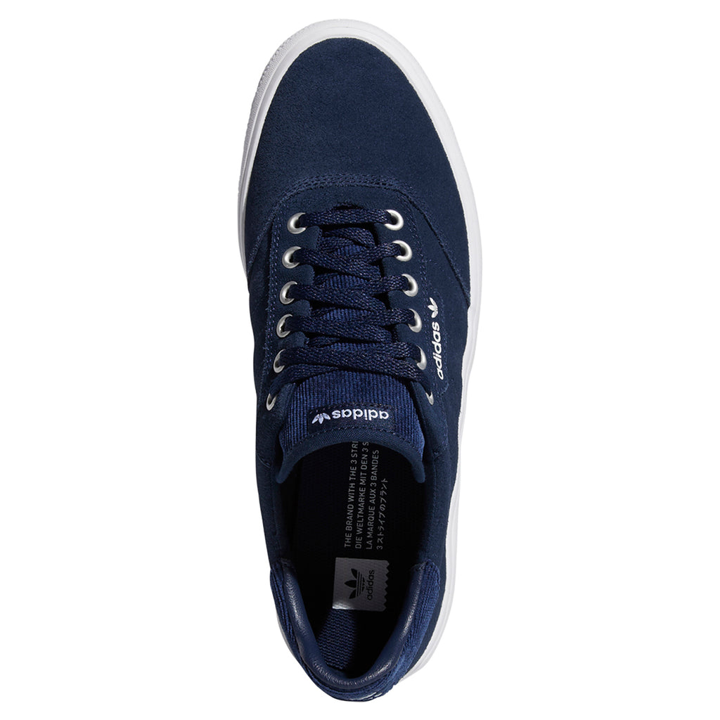 Adidas 3MC Shoes in Collegiate Navy / Footwear White / Silver Metallic - Top