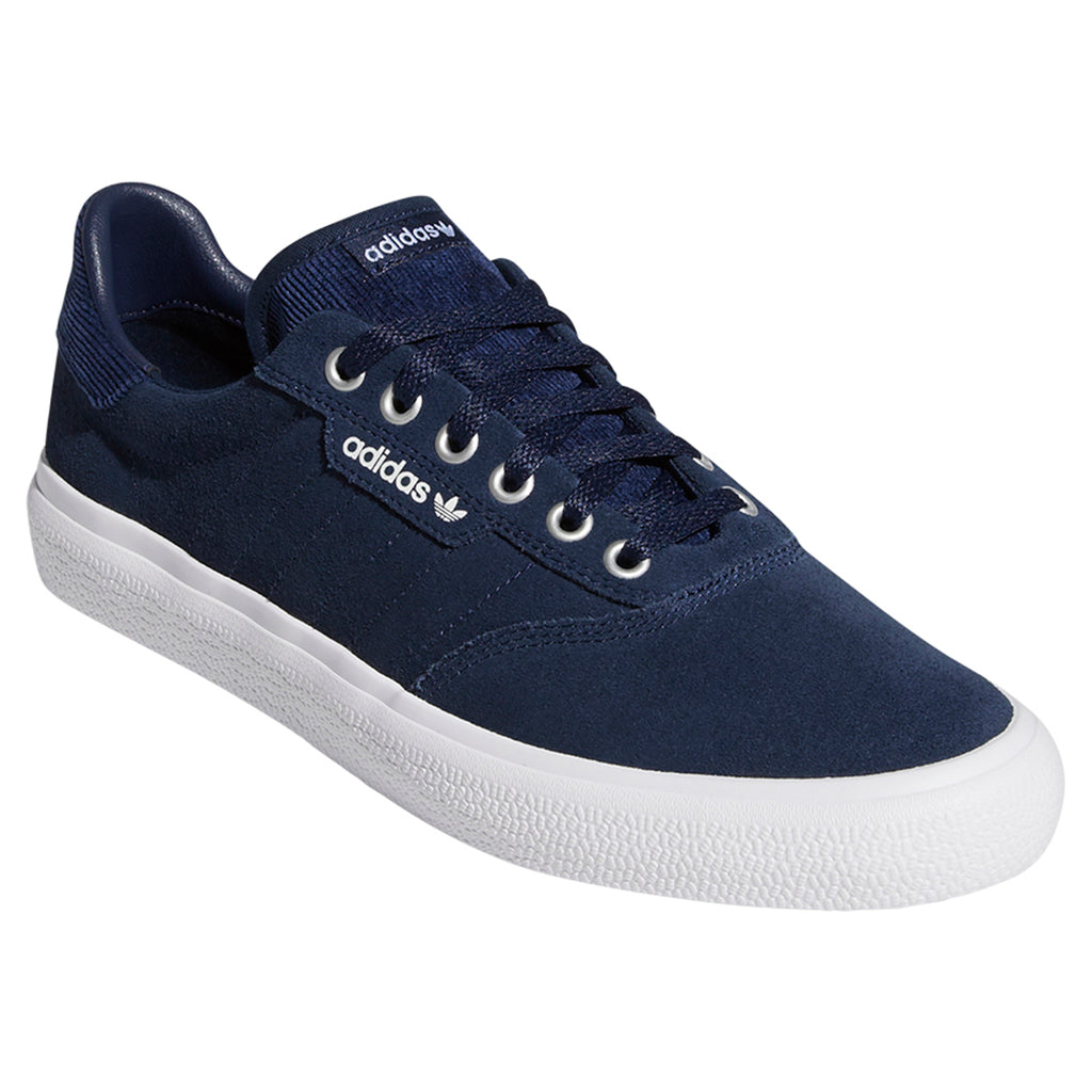 Adidas 3MC Shoes in Collegiate Navy / Footwear White / Silver Metallic - Side