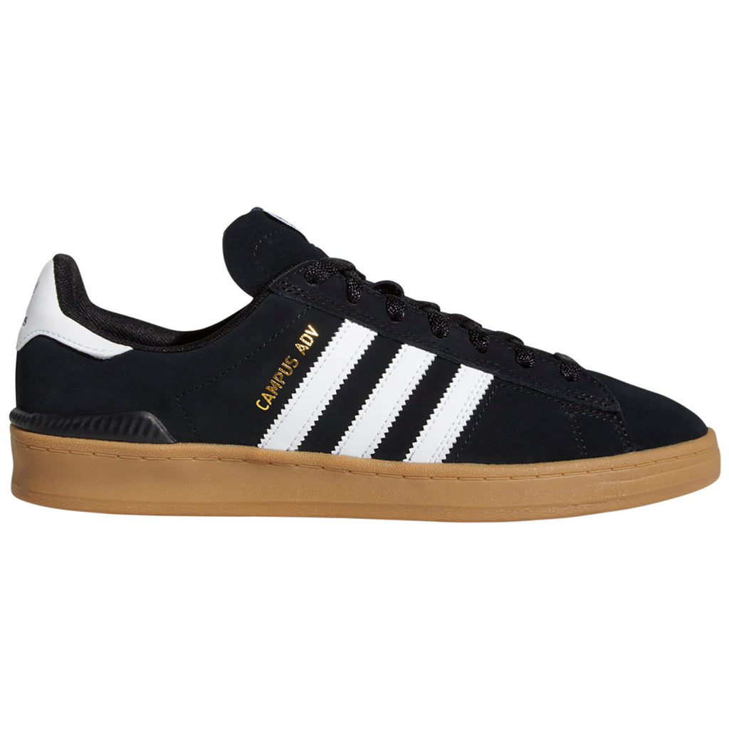 Adidas Campus ADV Shoes in Core Black / Footwear White / Gum 4