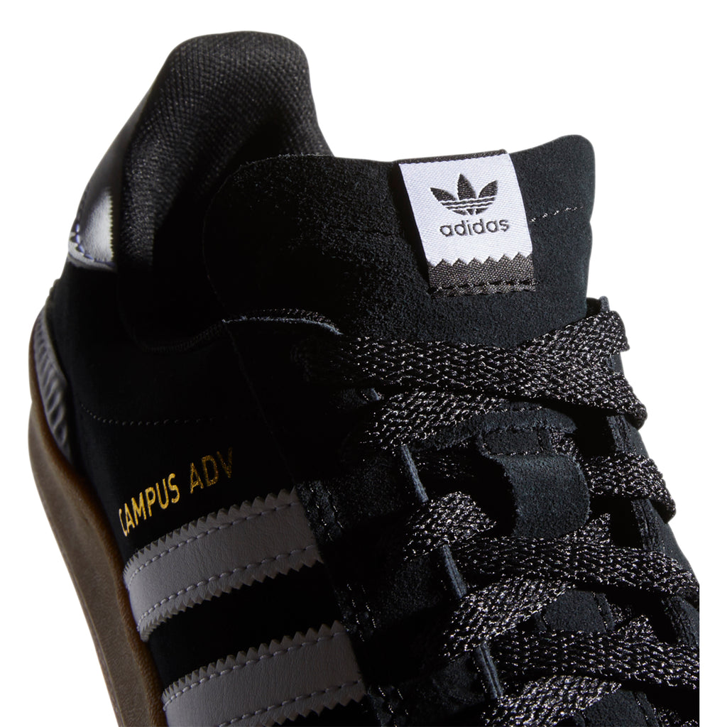 Adidas Campus ADV Shoes in Core Black / Footwear White / Gum 4 - Tongue