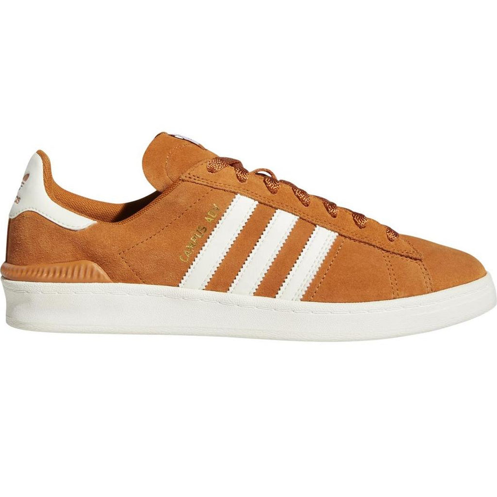 Adidas Campus ADV Shoes in Tech Copper / Chalk White / Gold Metallic