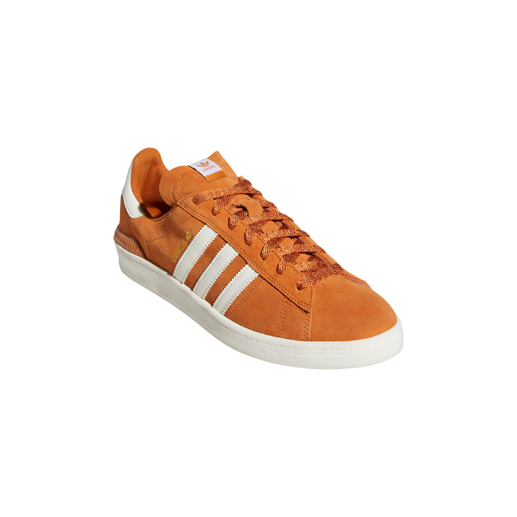 Adidas Campus ADV Shoes in Tech Copper / Chalk White / Gold Metallic - Front