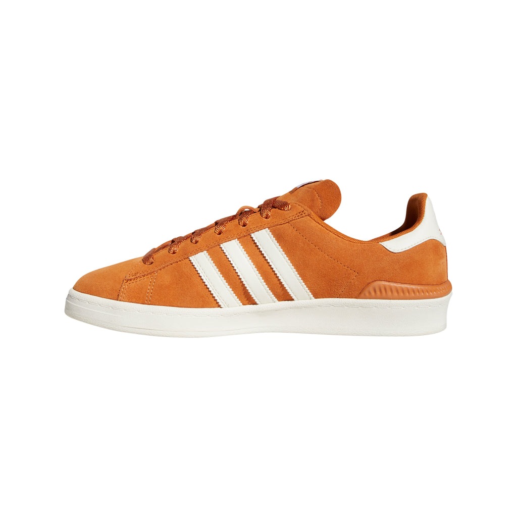 Adidas Campus ADV Shoes in Tech Copper / Chalk White / Gold Metallic - Side