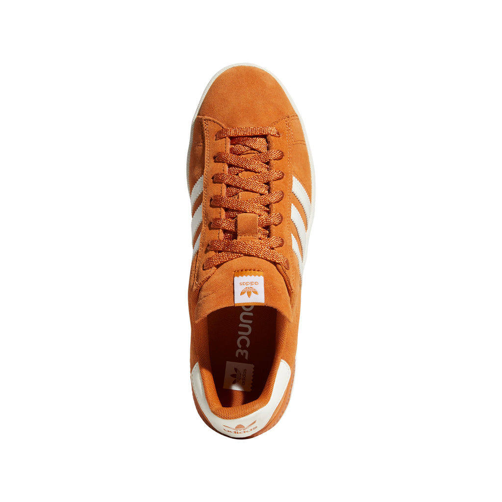 Adidas Campus ADV Shoes in Tech Copper / Chalk White / Gold Metallic - Top