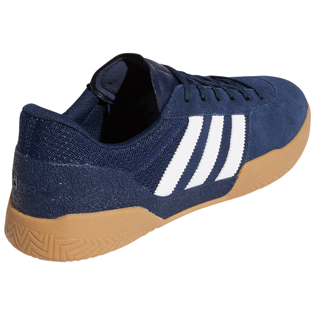 Adidas City Cup Shoes in Collegiate Navy / Footwear White / Gum 4 - Side