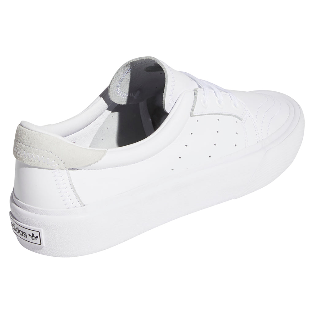 Adidas Skateboarding Coronado Shoes in Footwear White / Crystal White - Side