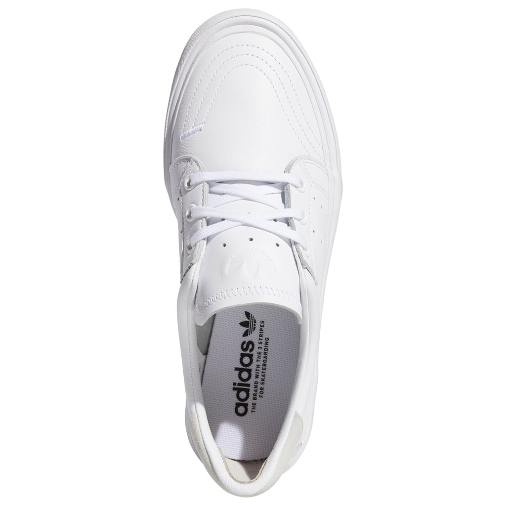 Adidas Skateboarding Coronado Shoes in Footwear White / Crystal White - Top