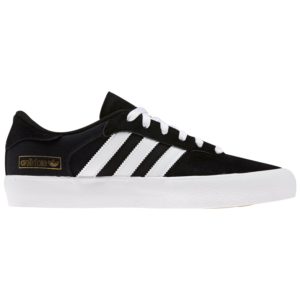 Adidas Skateboarding Matchbreak Super Shoes in Core Black / Footwear White / Gold Metallic