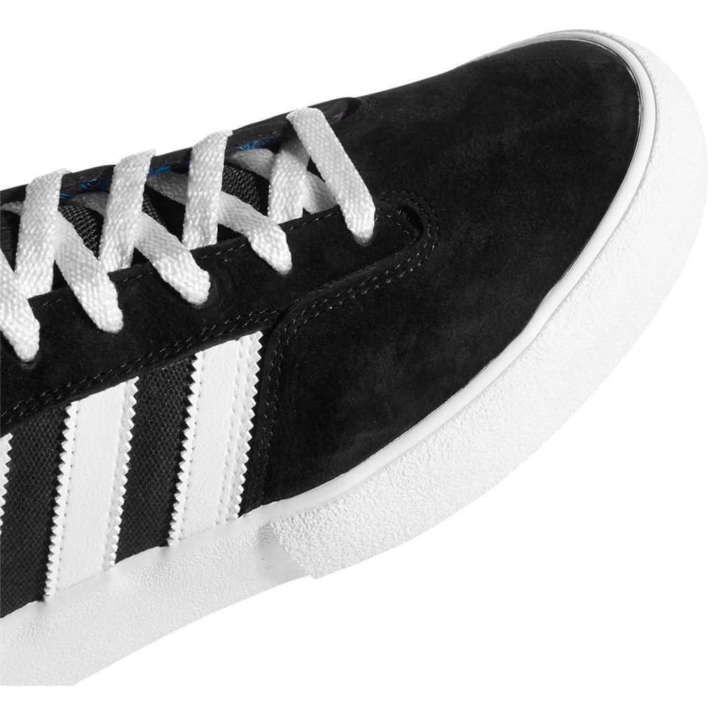 Adidas Skateboarding Matchbreak Super Shoes in Core Black / Footwear White / Gold Metallic - Toe
