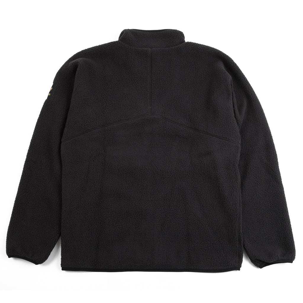 Adidas Sherpa Full Zip Jacket in Black / Active Gold - Back