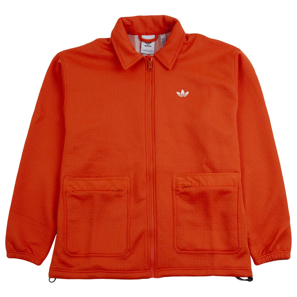Adidas Skateboarding Utility Coaches Jacket in Glory Amber / Off White