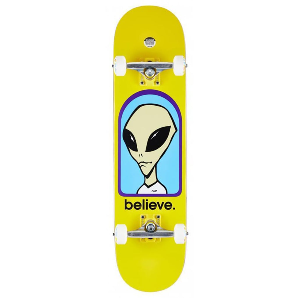 Alien Workshop Believe Yellow Complete Skateboard in 8.25""