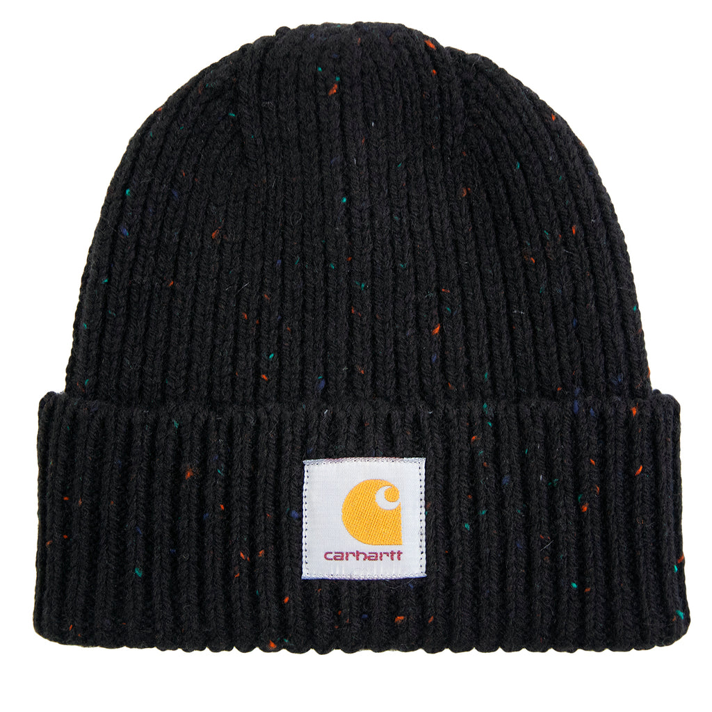 Carhartt WIP Anglistic Beanie in Black Heather Heather