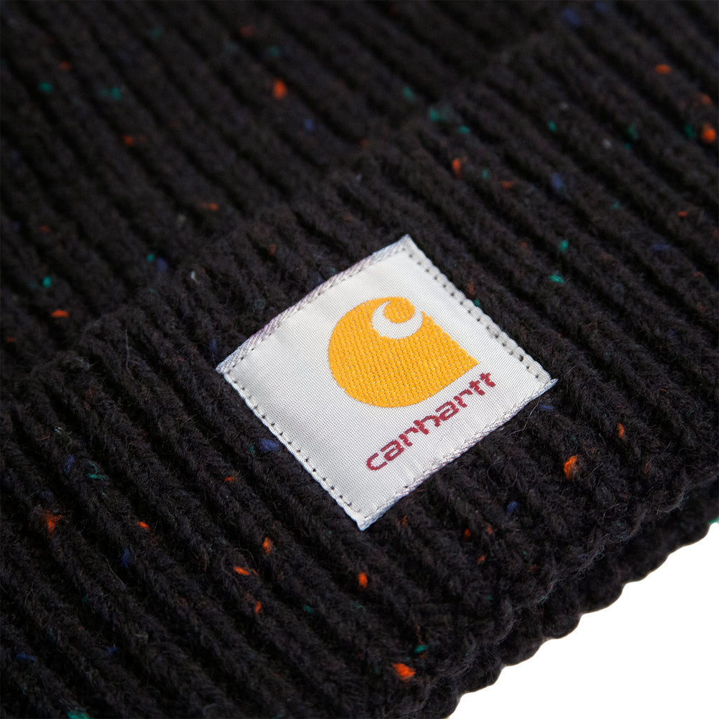 Carhartt WIP Anglistic Beanie in Black Heather Heather - Label