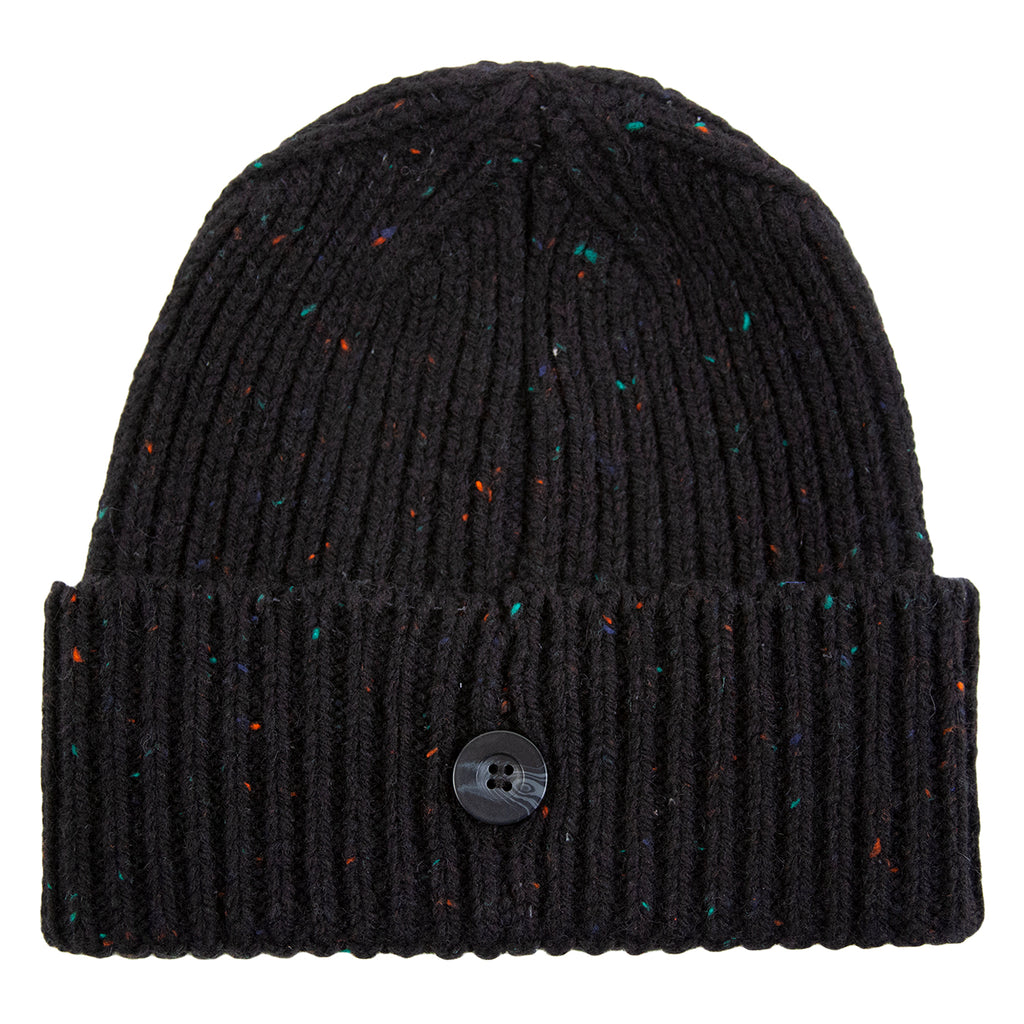 Carhartt WIP Anglistic Beanie in Black Heather Heather - Back