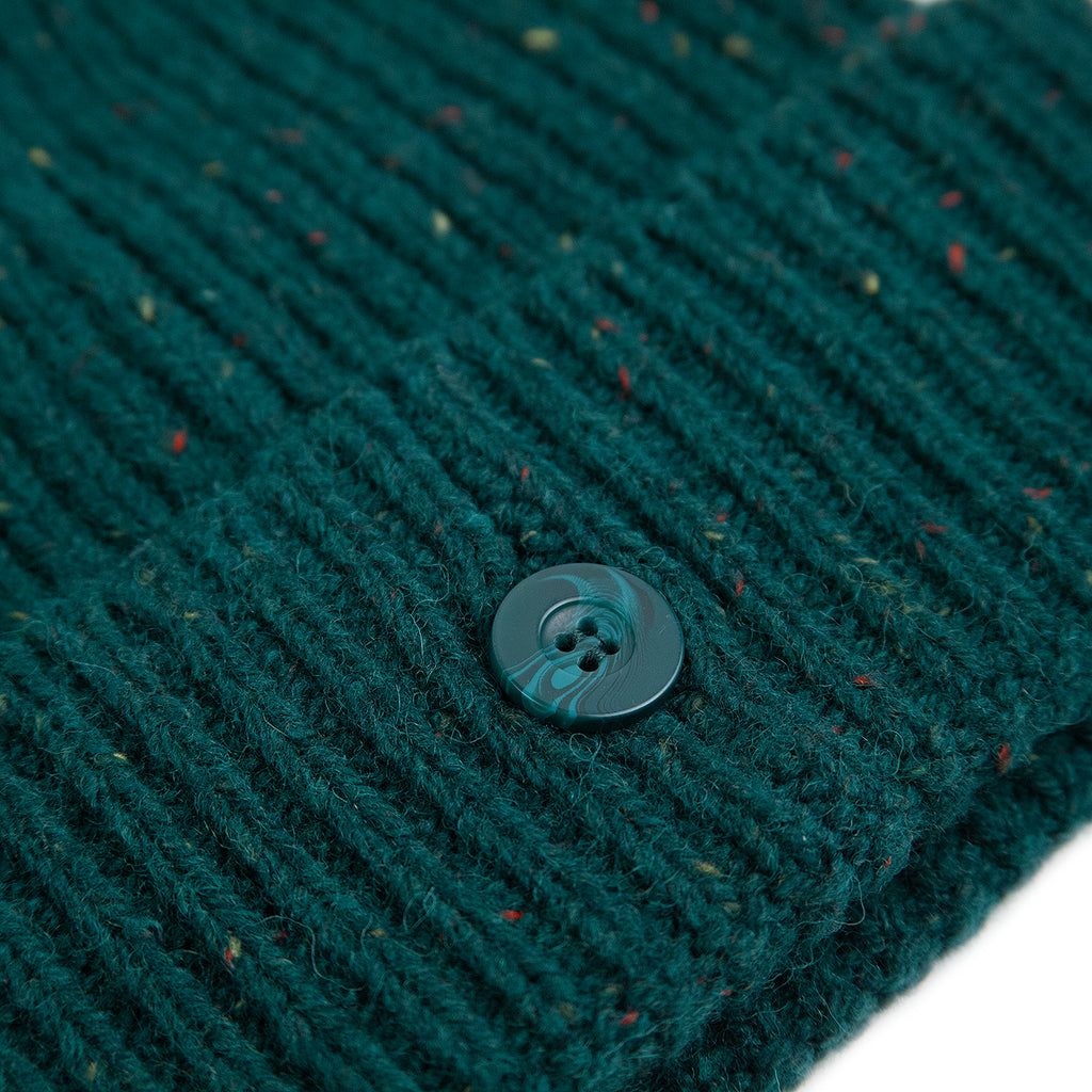 Carhartt WIP Anglistic Beanie in Dark Fir Heather - Button