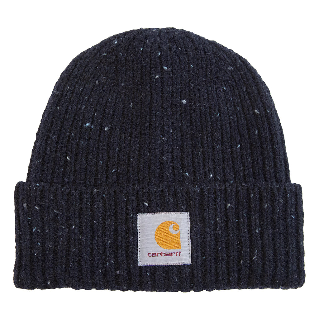 Carhartt WIP Anglistic Beanie in Dark Navy Heather