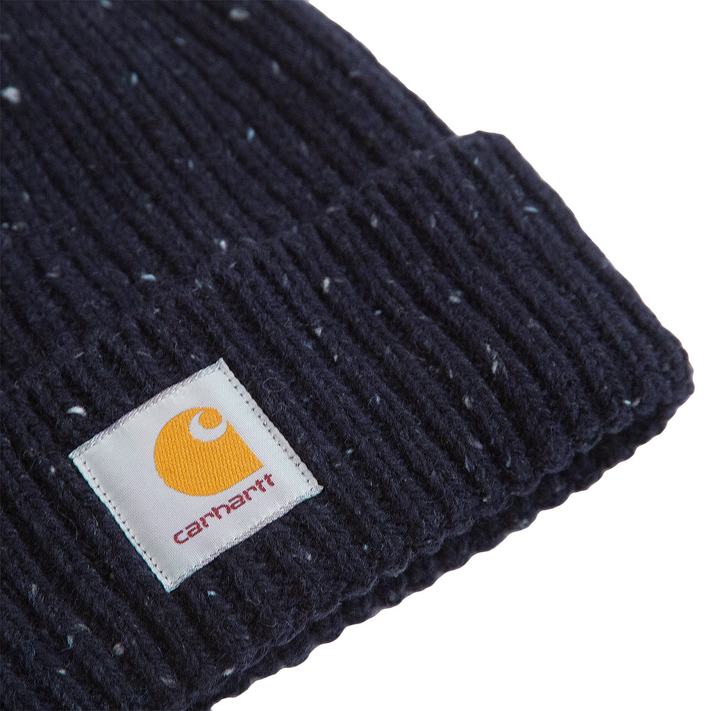 Carhartt WIP Anglistic Beanie in Dark Navy Heather - Detail