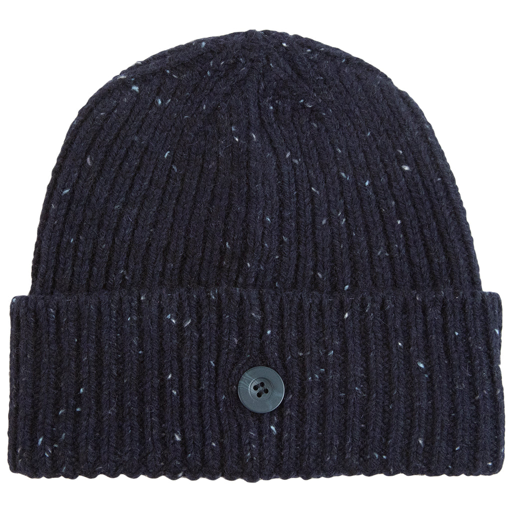 Carhartt WIP Anglistic Beanie in Dark Navy Heather - Back