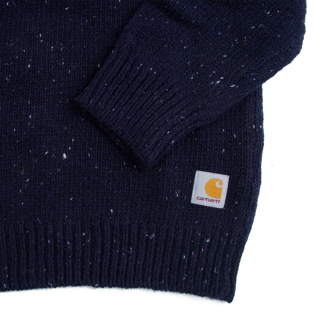 Carhartt WIP Anglistic Sweater in Dark Navy Heather - Cuff