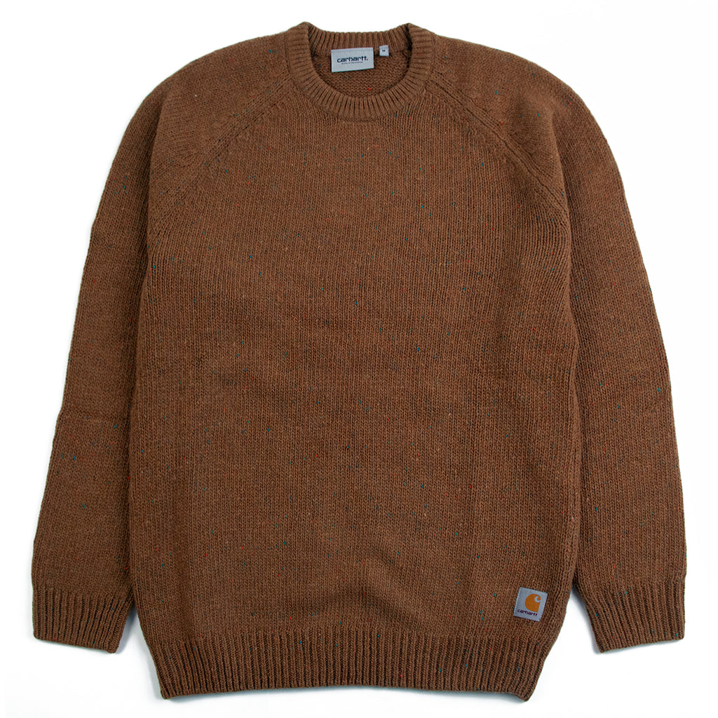 Carhartt Anglistic Sweater in Hamilton Brown