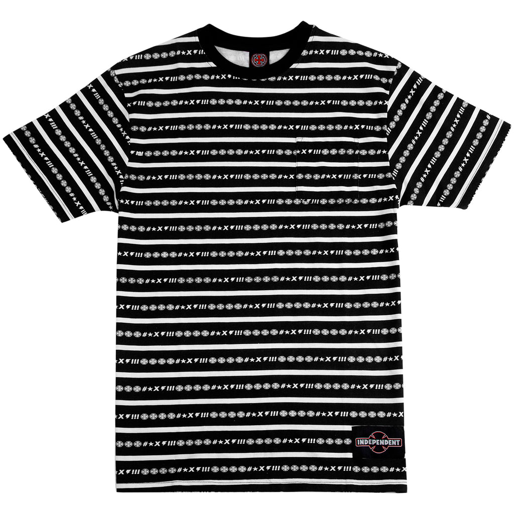 Independent Trucks Ante Pocket T Shirt in Vertigo Stripe