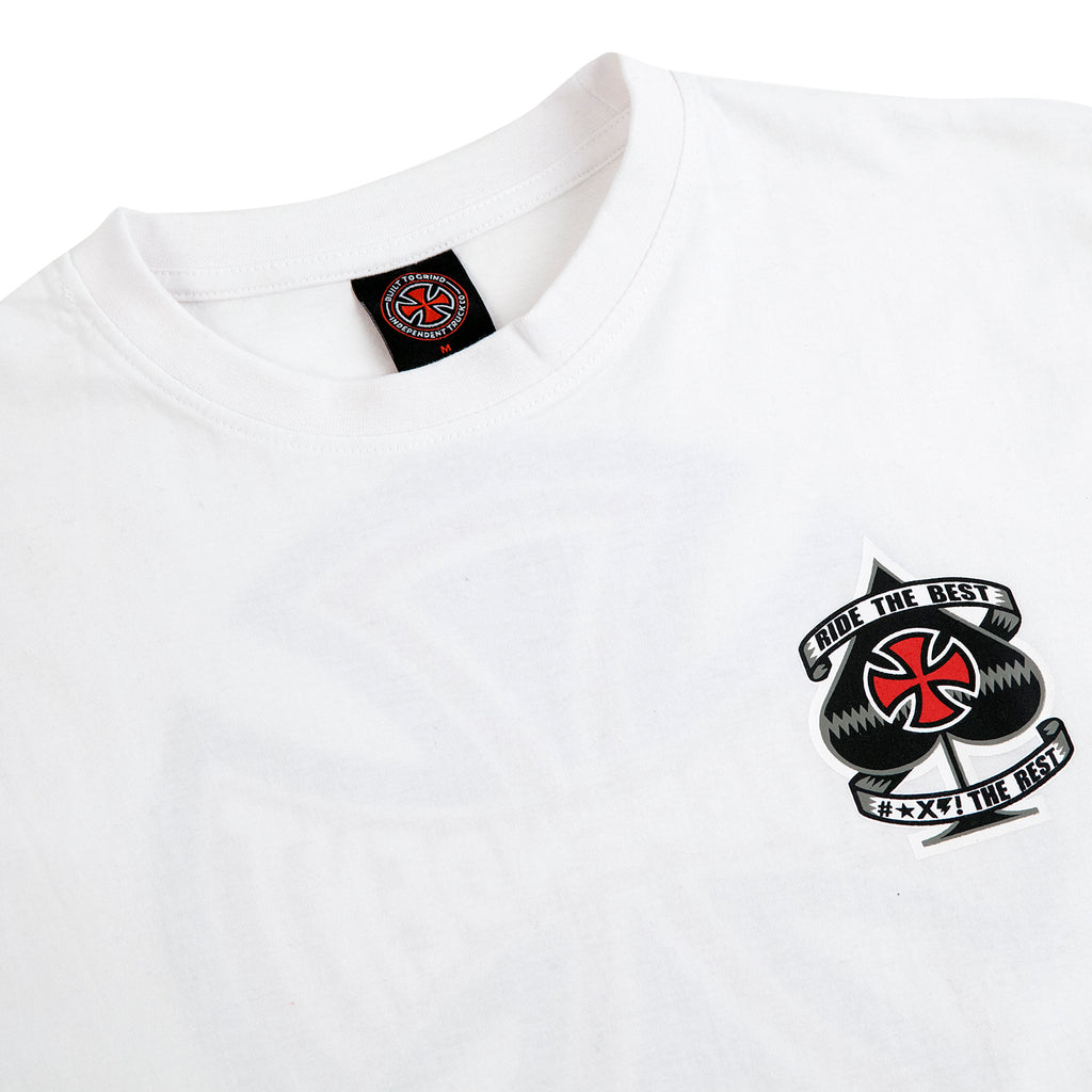 Independent Trucks Ante T Shirt in White - Detail
