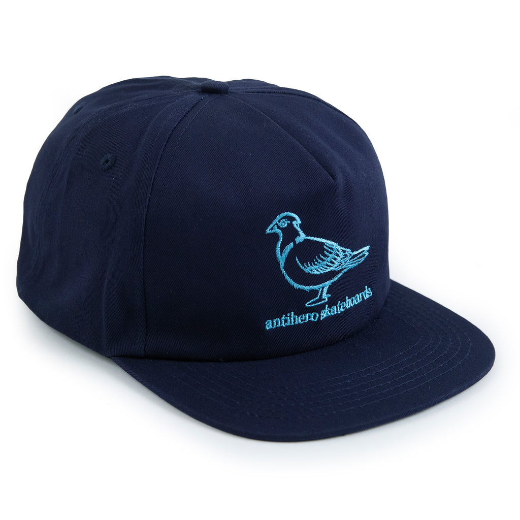 Anti Hero Lil Pigeon Snapback Cap in Navy / Light Blue