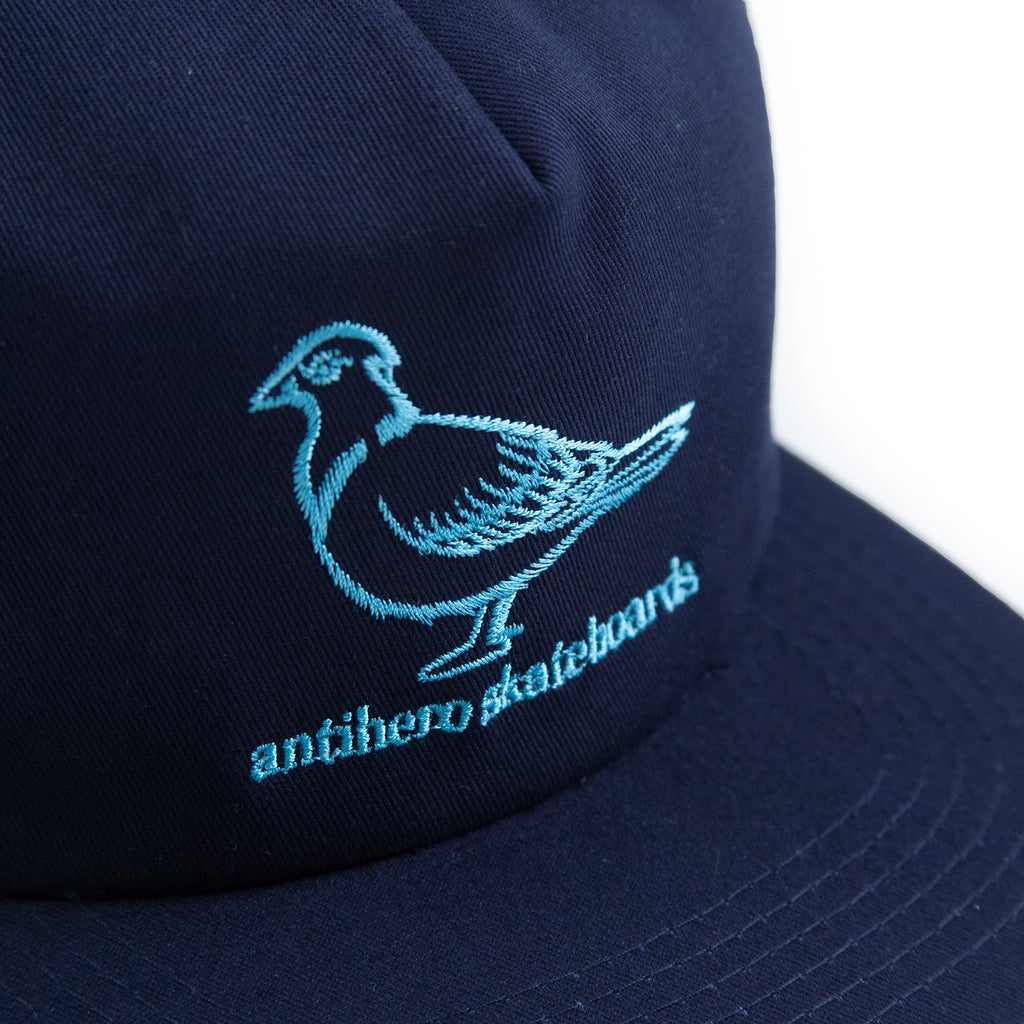 Anti Hero Lil Pigeon Snapback Cap in Navy / Light Blue - Embroidery