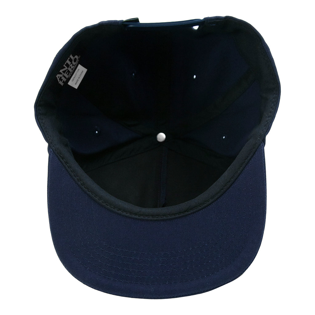 Anti Hero Lil Pigeon Snapback Cap in Navy / Light Blue - Inside