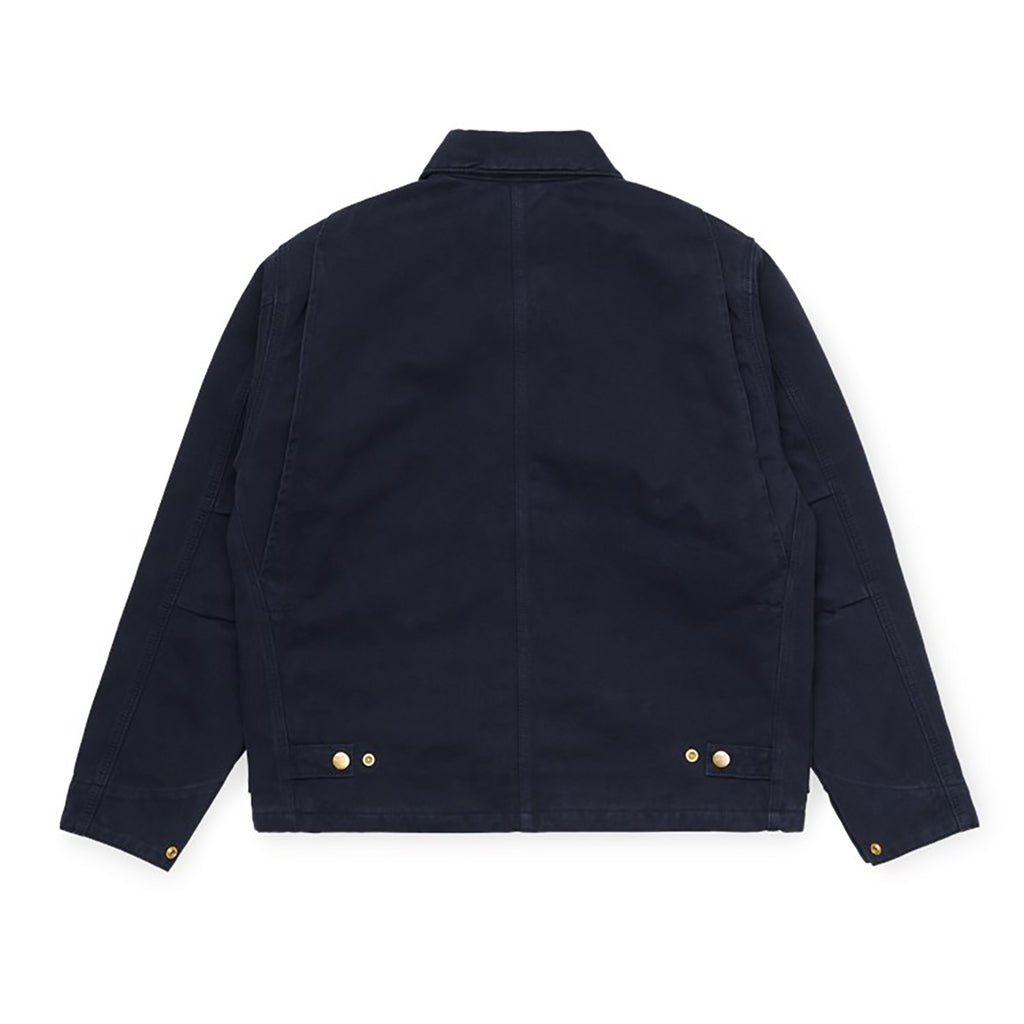 Carhartt WIP Arcan Jacket in Dark Navy Rinsed - Back