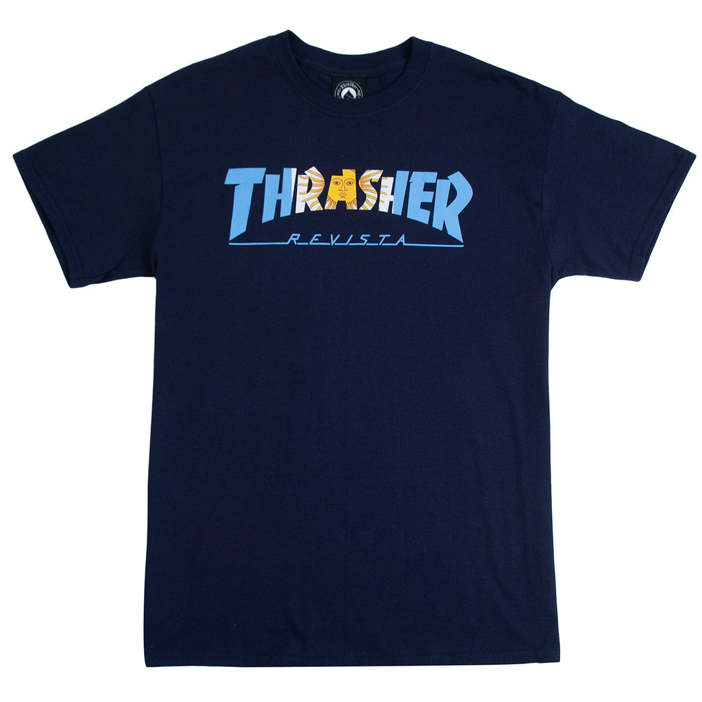 Thrasher Argentina T Shirt in Navy