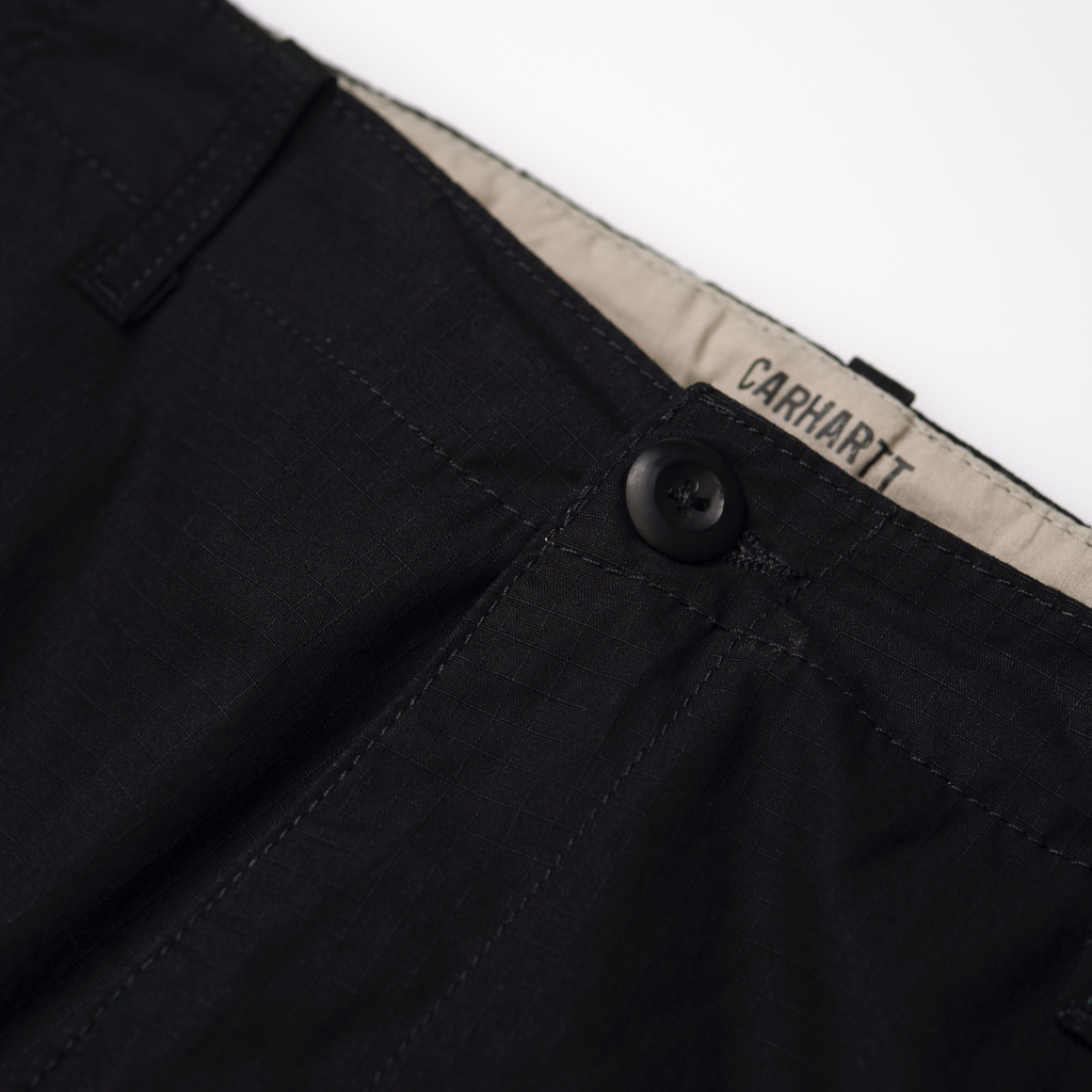 Carhartt WIP Aviation Pant in Black - Button