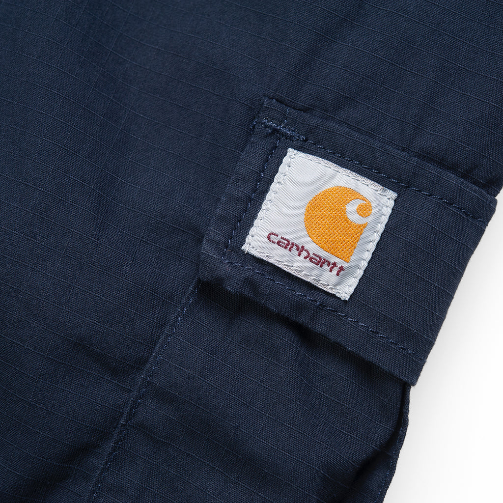 Carhartt WIP Aviation Pant in Dark Navy - Label