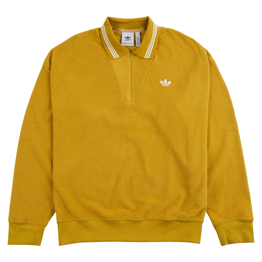 Adidas Skateboarding Bouclette Shirt in Spice Yellow / Off White