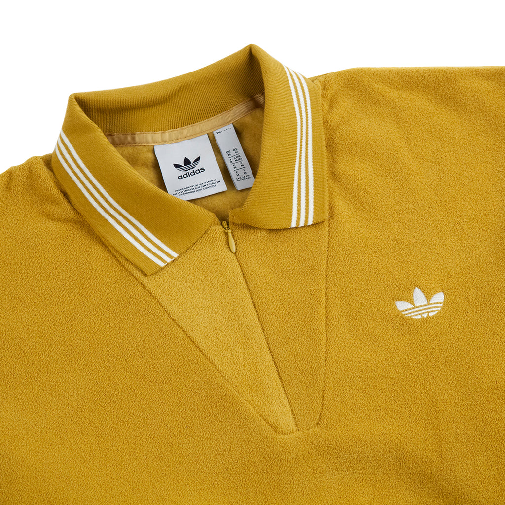 Adidas Skateboarding Bouclette Shirt in Spice Yellow / Off White - Detail