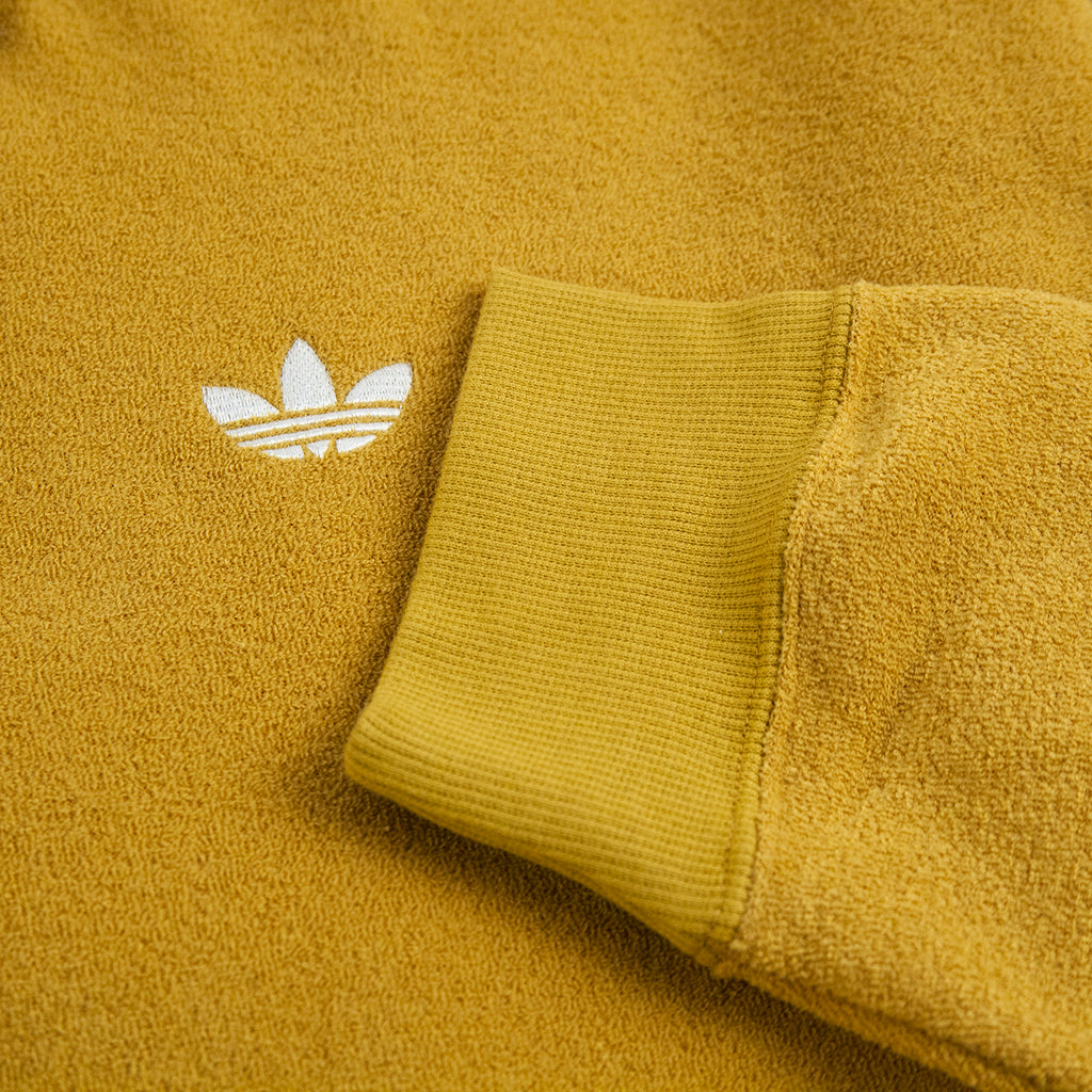Adidas Skateboarding Bouclette Shirt in Spice Yellow / Off White - Cuff 2