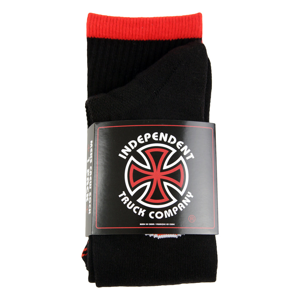 Independent Trucks BC Primary Socks in Black - Packaged