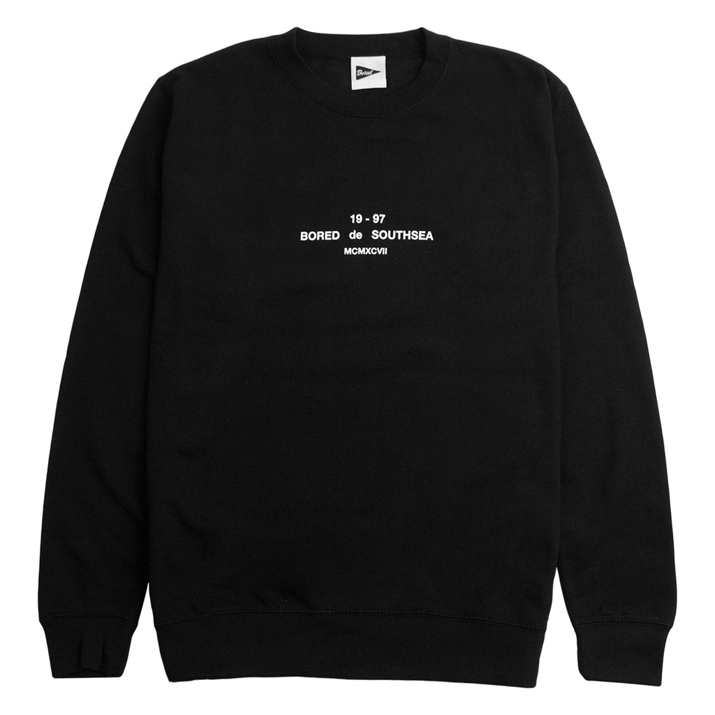 Bored of Southsea BDG Sweatshirt in Black