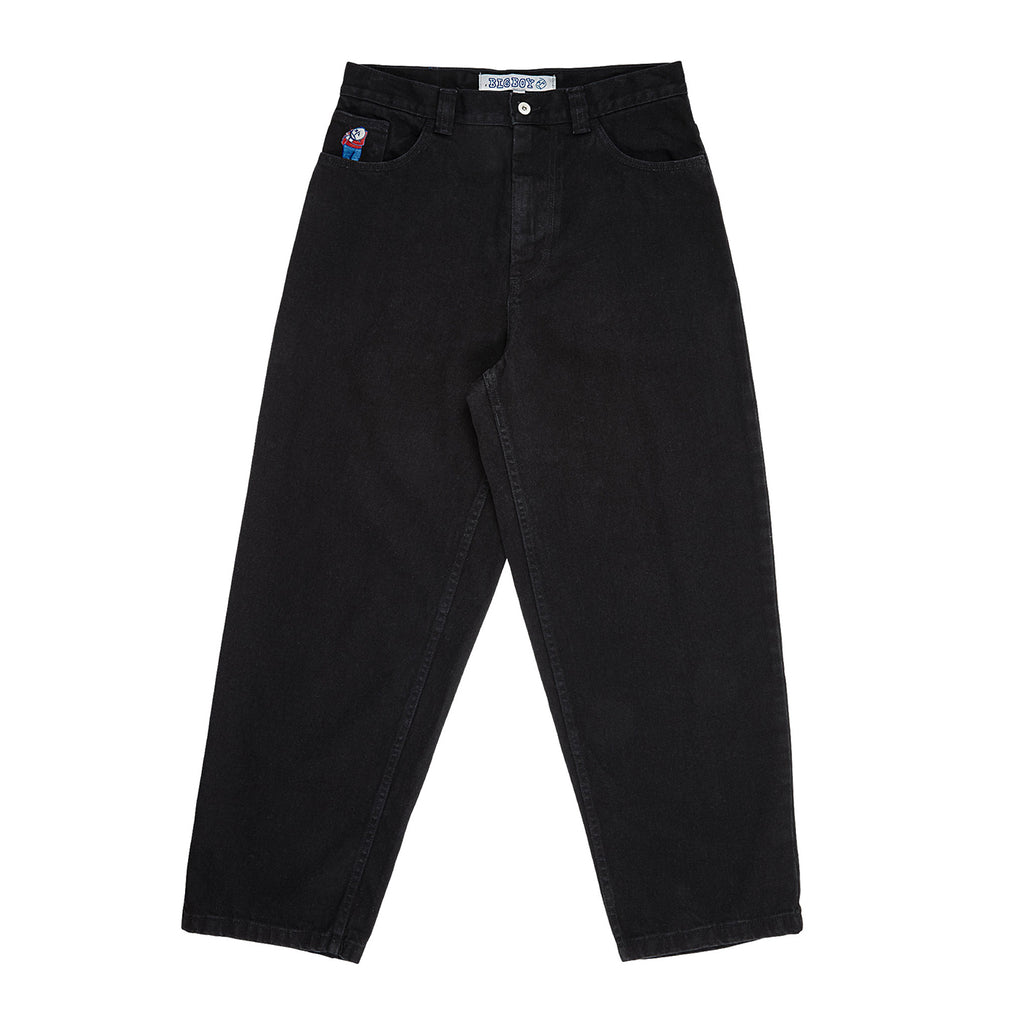 Polar Skate Co Big Boy Jeans in Pitch Black - Front