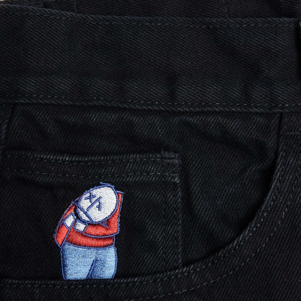 Polar Skate Co Big Boy Jeans in Pitch Black - Embroidery