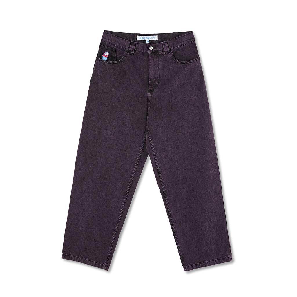 Polar Skate Co Big Boy Jeans in Purple Black - Front