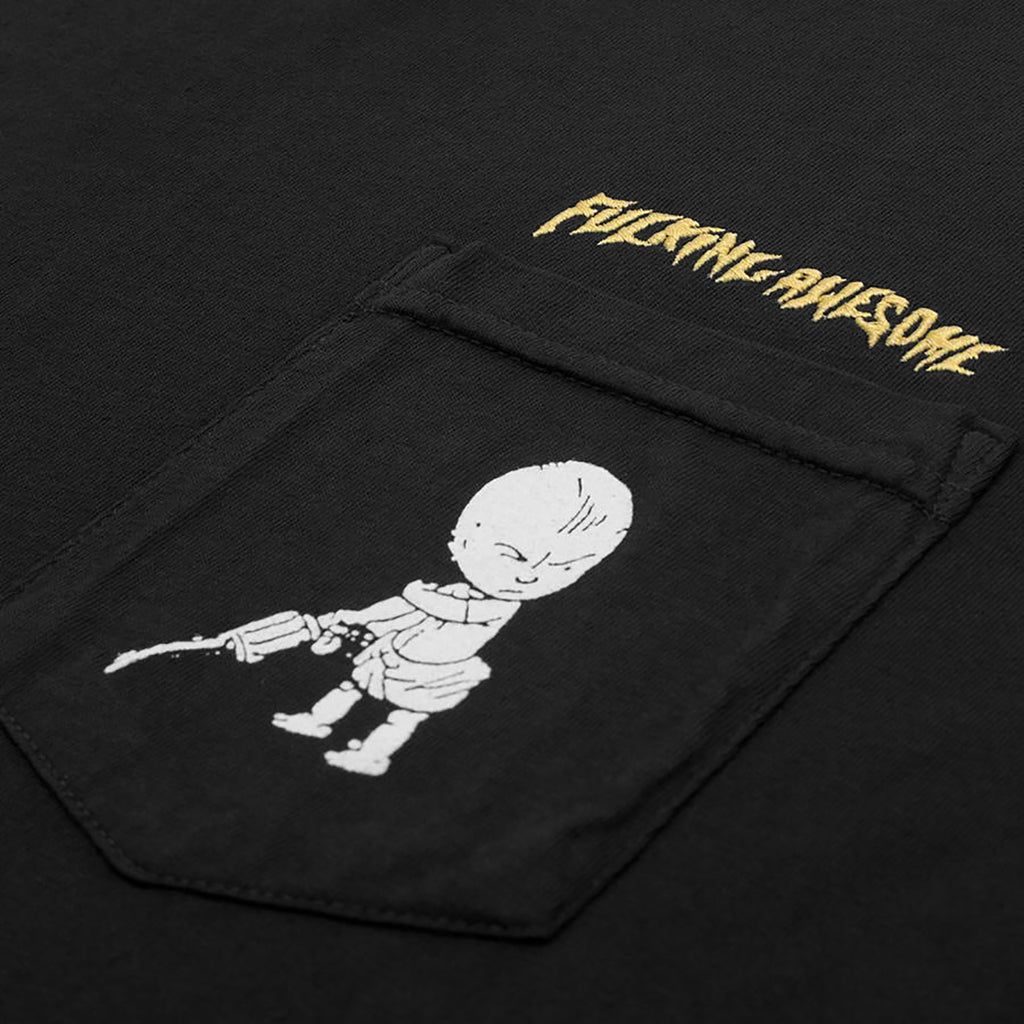 Fucking Awesome Baby Pocket T Shirt in Black - Pocket
