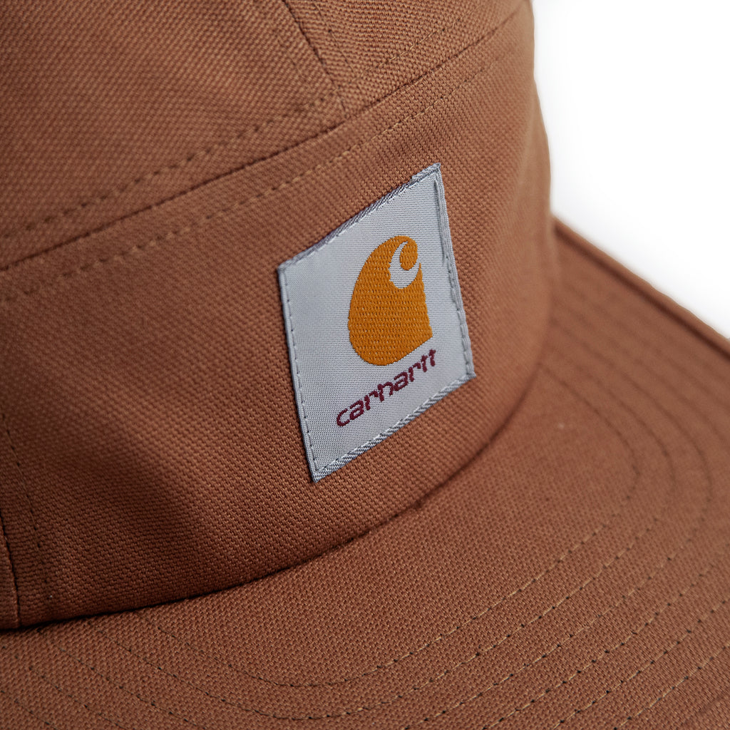 Carhartt WIP Backley 5 Panel Cap in Hamilton Brown - Detail