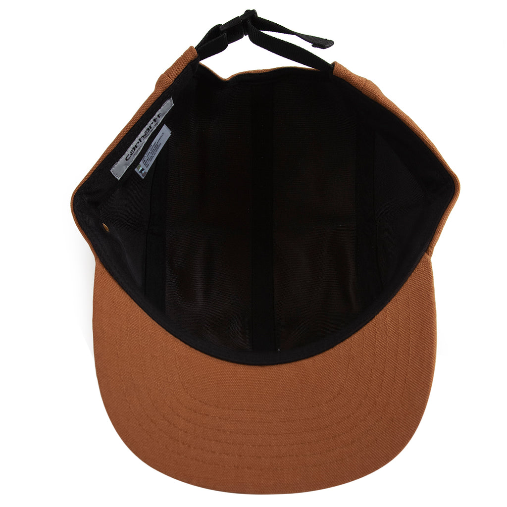 Carhartt WIP Backley 5 Panel Cap in Hamilton Brown - Inside