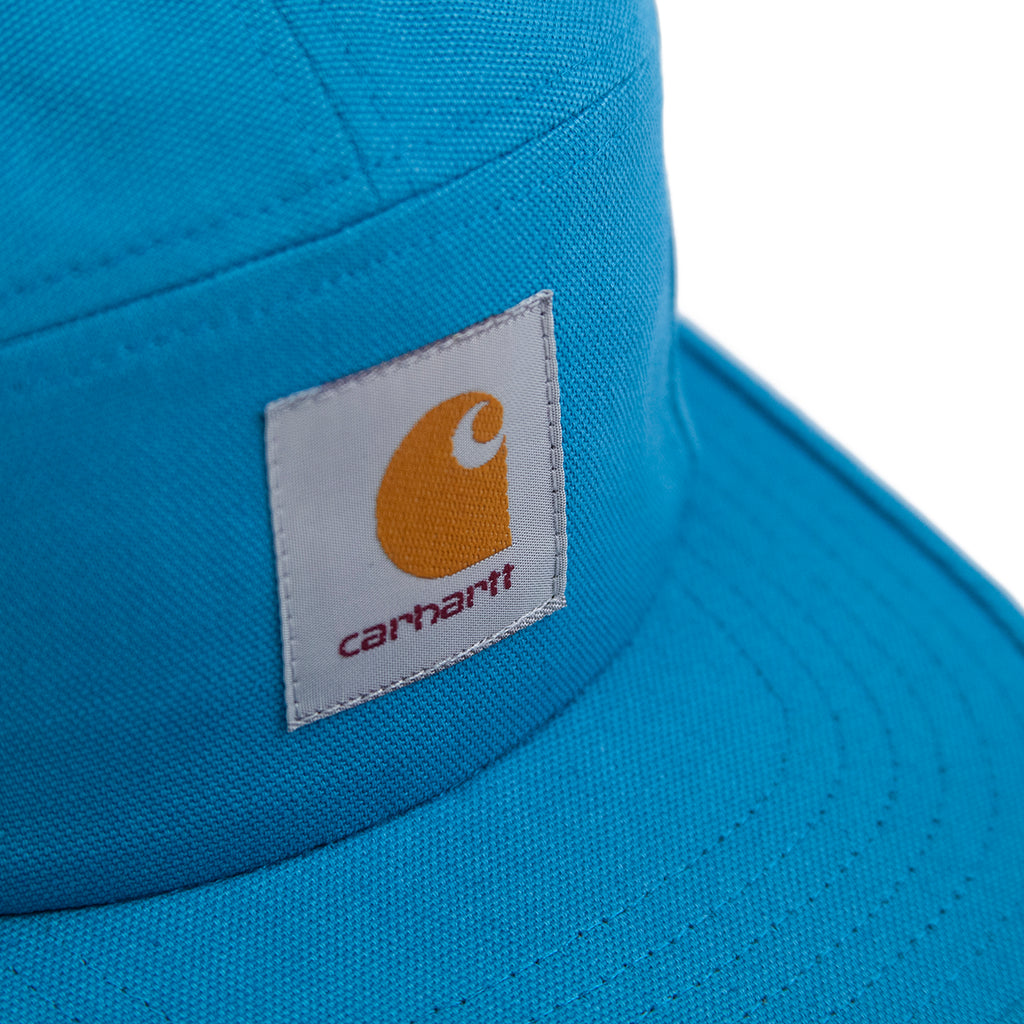 Carhartt Backley 5 Panel Cap in Pizol - Label