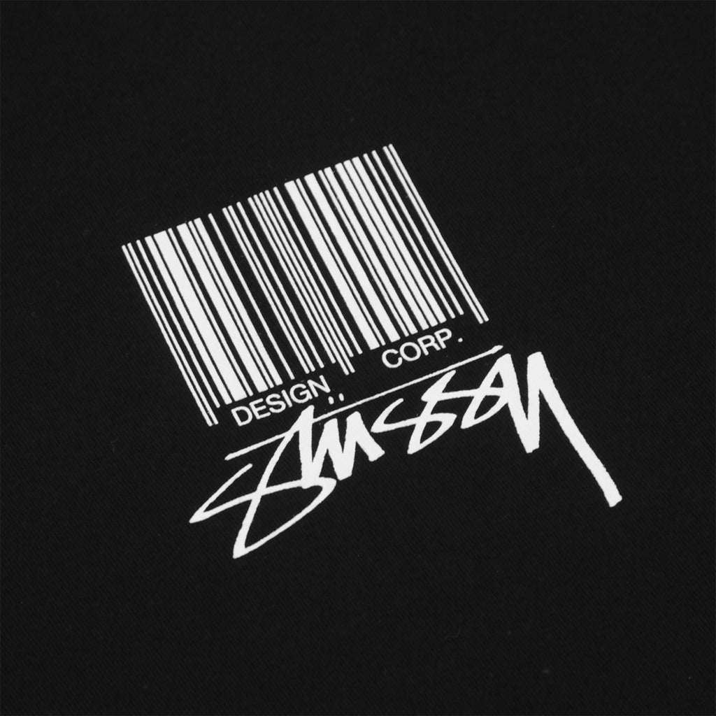 Stussy Barcode T Shirt in Black - Print