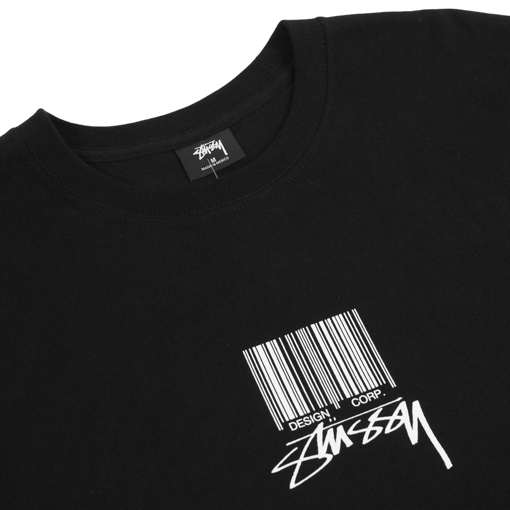 Stussy Barcode T Shirt in Black - Detail